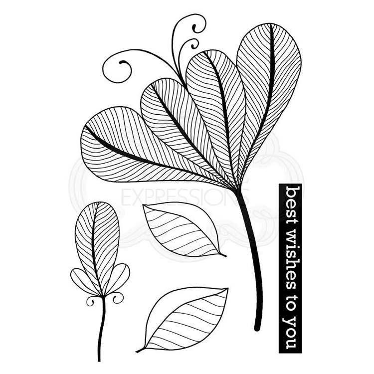 Woodware Clear Singles Bold Blooms - Vivian