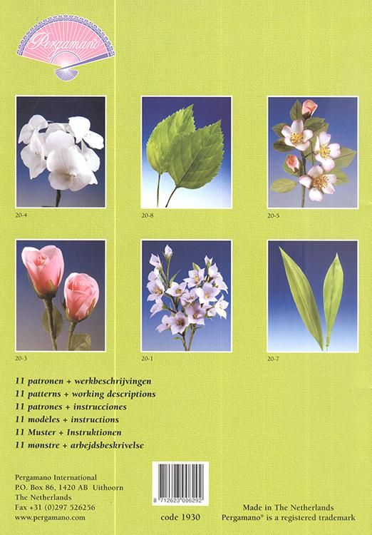 Pergamano Pattern Booklet M20 3D Flowers
