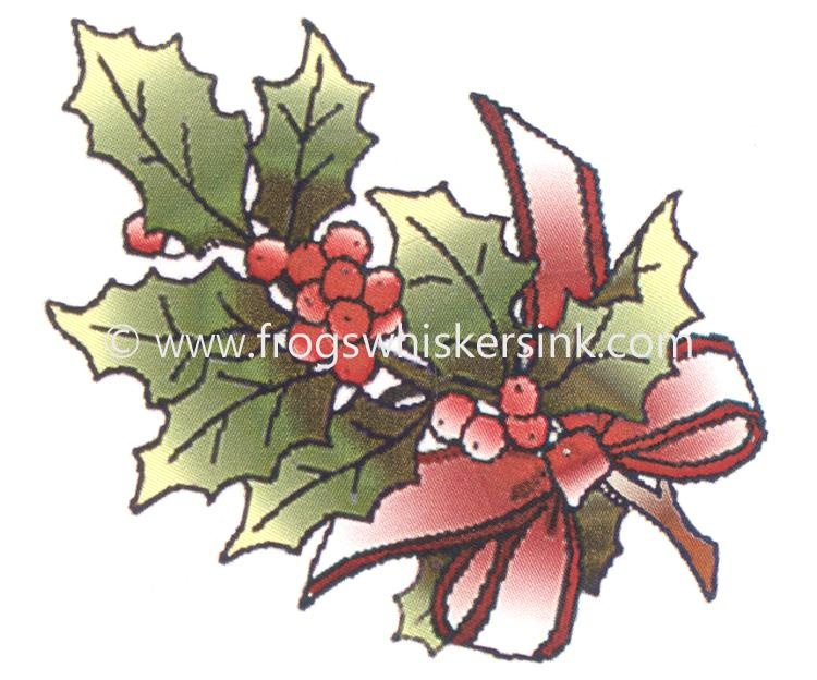 Frog's Whiskers Ink Stamps - Holly Sprig