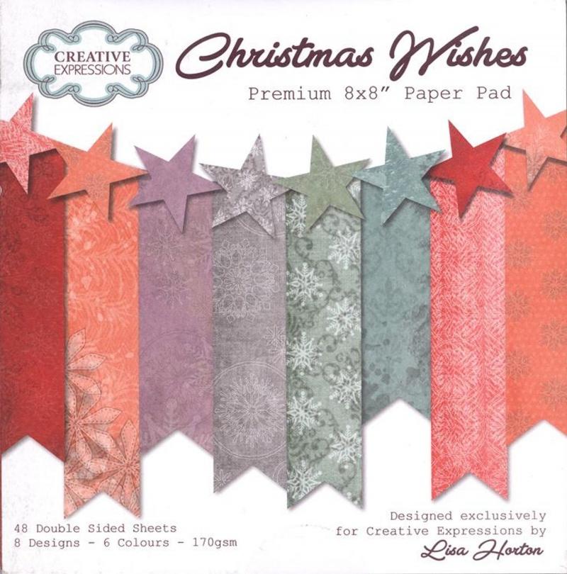Christmas Wishes Premium Paper Pad 8 X 8