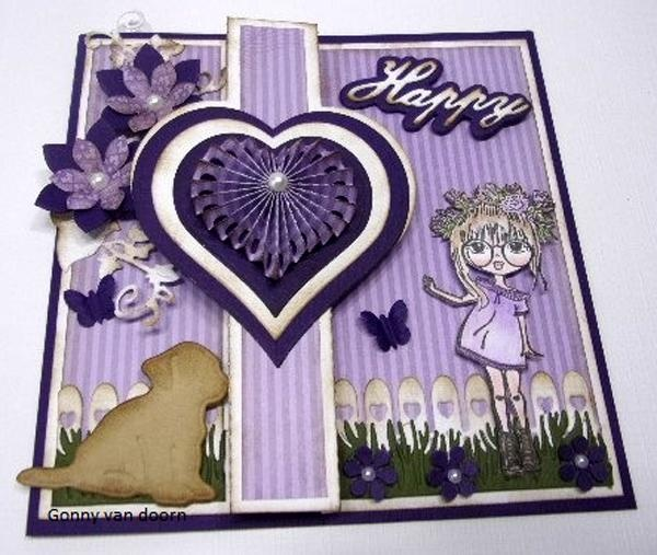 Clear Stamp Lovely Lena - Lena, Floral Wreath
