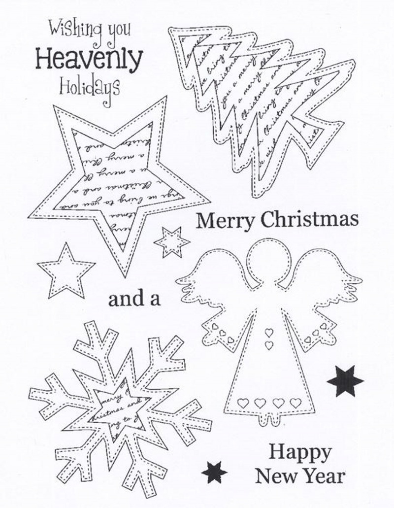 Creative Expressions - Clear Stamp Set - Stitched Angel Ornaments