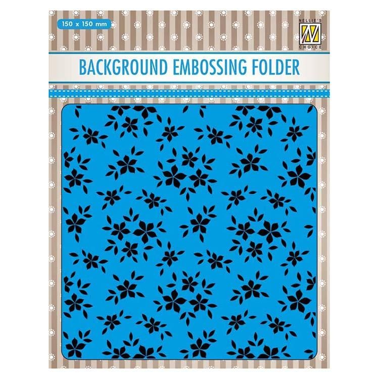 Nellie's Choice 6 X 6 Embossing Folder Small Flowers