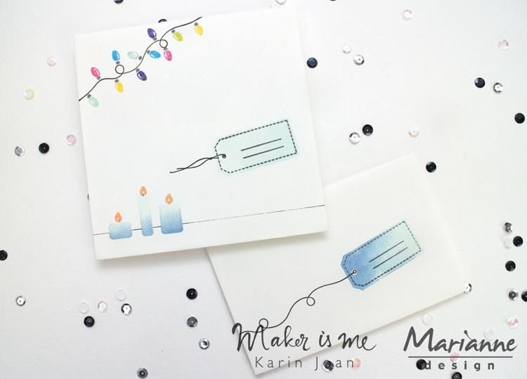 Marianne Design Stamps Giftwrapping: Tags & Threads