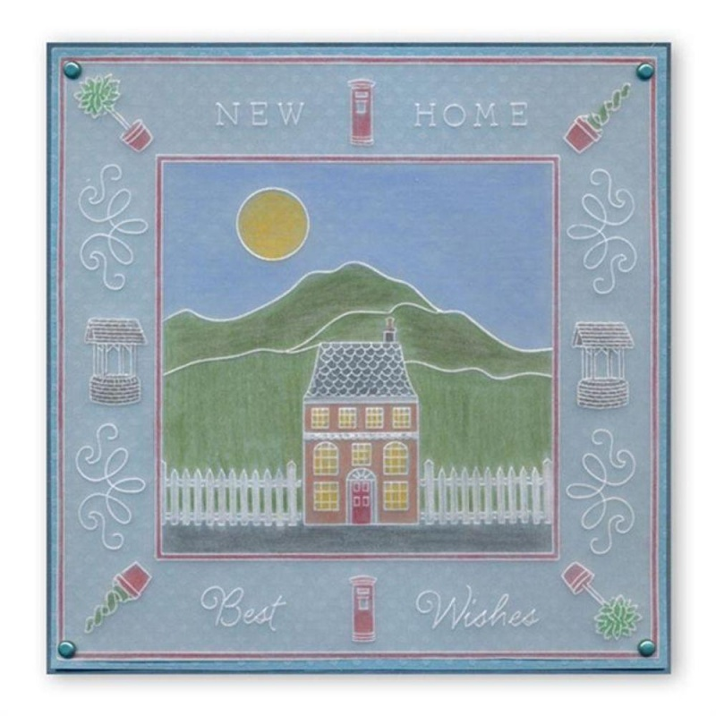 Groovi Wee Houses Plate A6 Sq