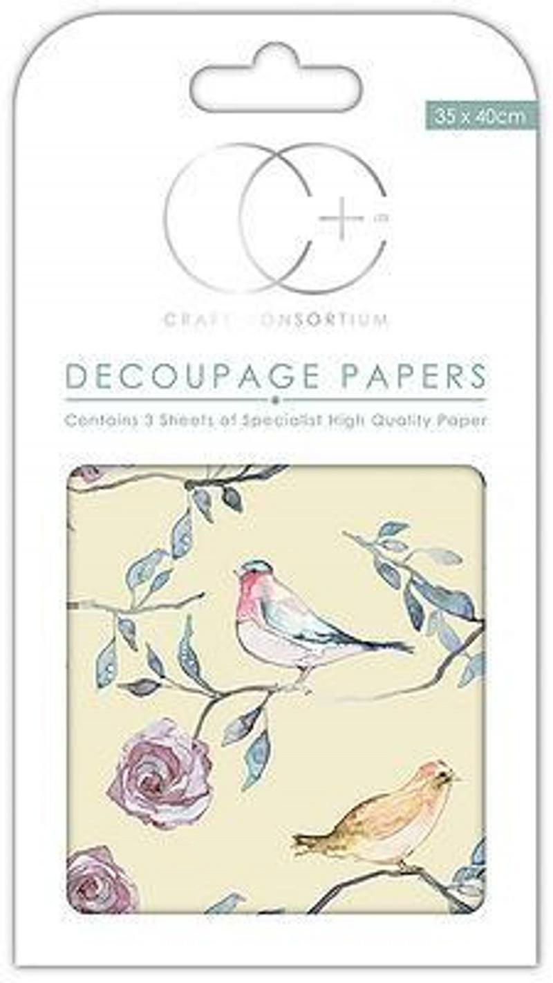 Bird Treetop Large Decoupage Paper