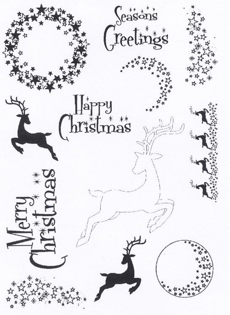 Creative Expressions - Clear Stamp Set - Elegant Stars & Reindeer