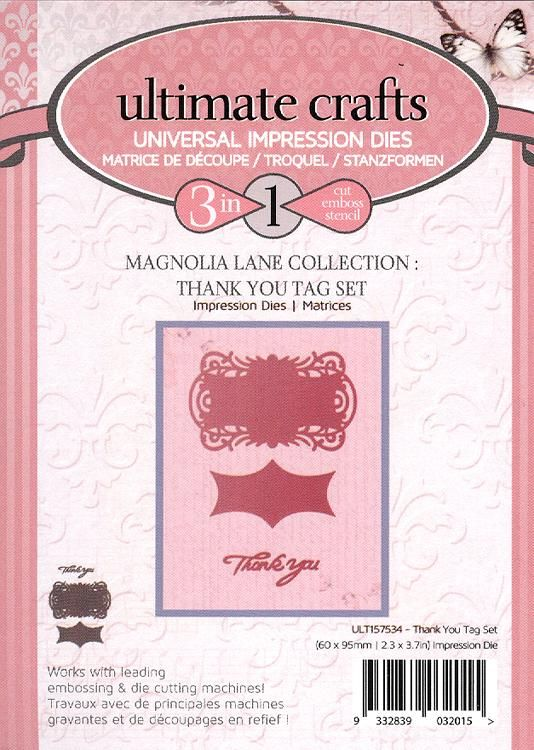 Couture Creations Impression Die - Thank You Tag Set