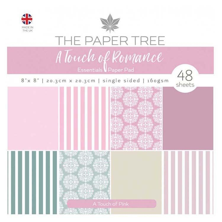 The Paper Tree A Touch Of Romance 8x8 Essentials Pad - A Touch Of Pink