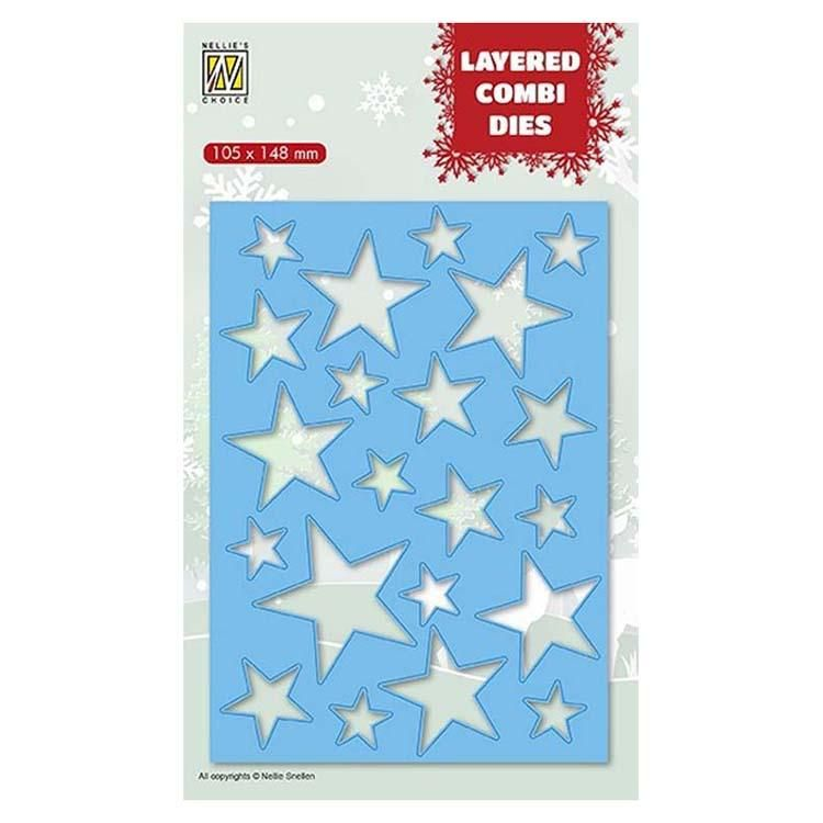 Nellie's Choice Layered Combi Dies Rectangle Stars A