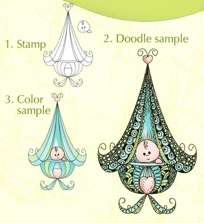 Lea'bilities Clear Stamp - Doodle Cradle