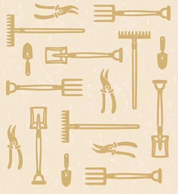Lea'bilities Embossing Folder - Garden Tools