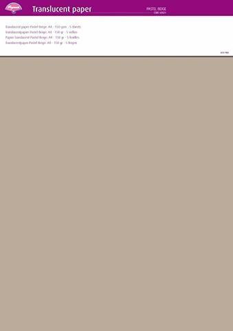 Parchment Paper - Pastel Beige (5 Sheets)