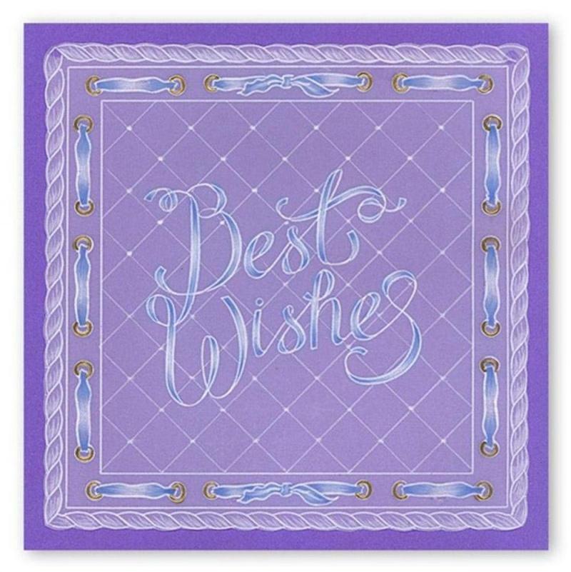 Groovi Best Wishes Ribbon A5 Sq