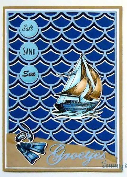 Holiday Die & Stamp Set - Boat