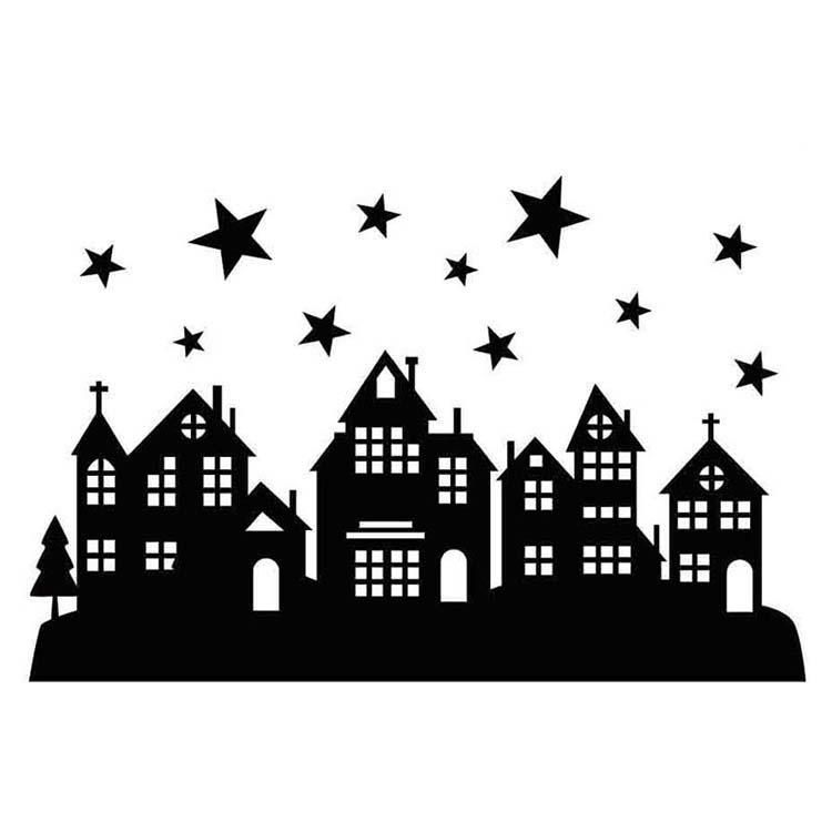 Hobby Solution Embossing Folder Christmas Starry Night