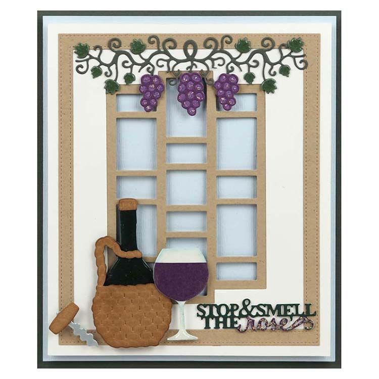 Dies By Sue Wilson Frames & Tags Collection Grape Vine Border