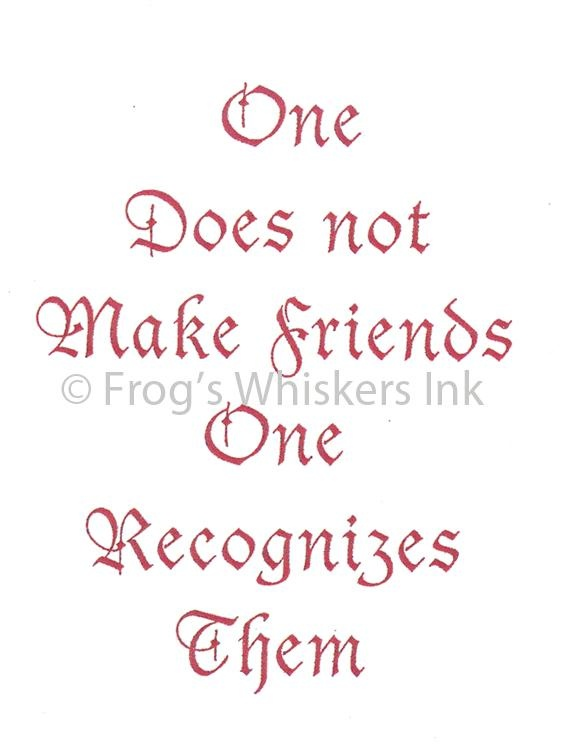 Frog's Whiskers Stamps - One Does Not