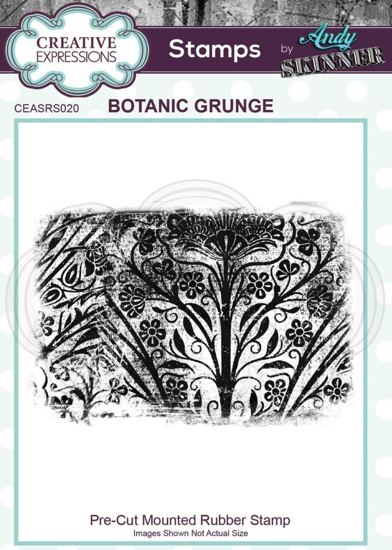 Pre Cut Rubber Stamp By Andy Skinner Botanic Grunge