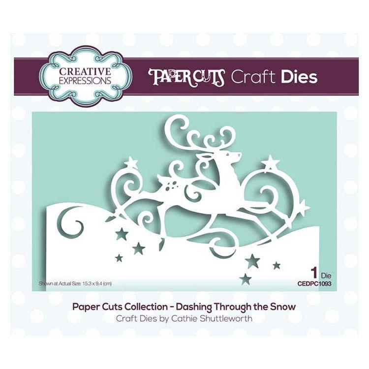 Creative Expressions Paper Cuts Collection - Dashing Through The Snow