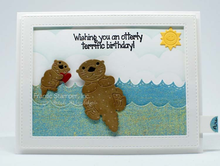 Frantic Stamper Clear Stamp Set - Otterly Amazing