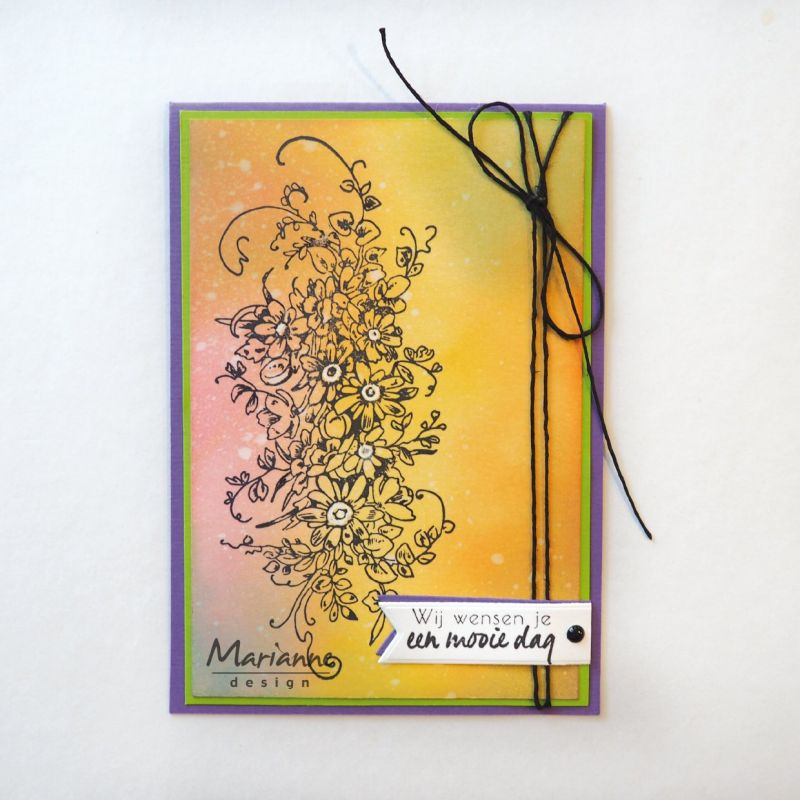 Marianne Design Stamps Tiny's Border Bouquet