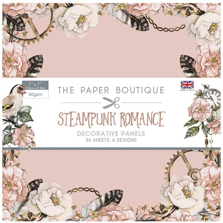 The Paper Boutique Steampunk Romance 7x7 Panel Pad