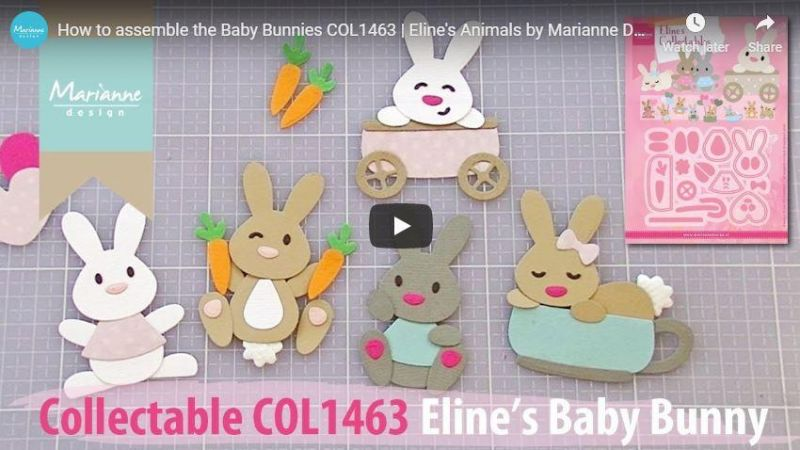 Marianne Design Collectables Eline's Baby Bunny