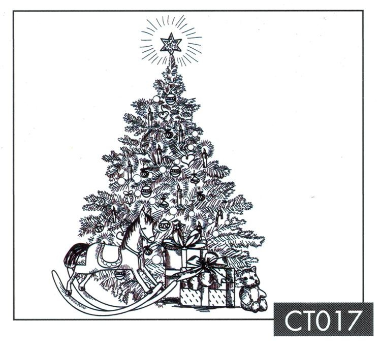 Clear Stamp - Christmas Time - Christmas Tree With Gifts