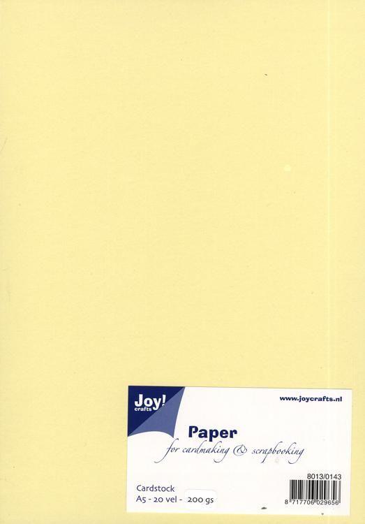 Joy! Crafts Card Stock A5 - Light Yellow
