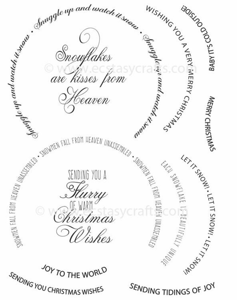 Snow Globe Sentiments A5 Clear Stamp Set