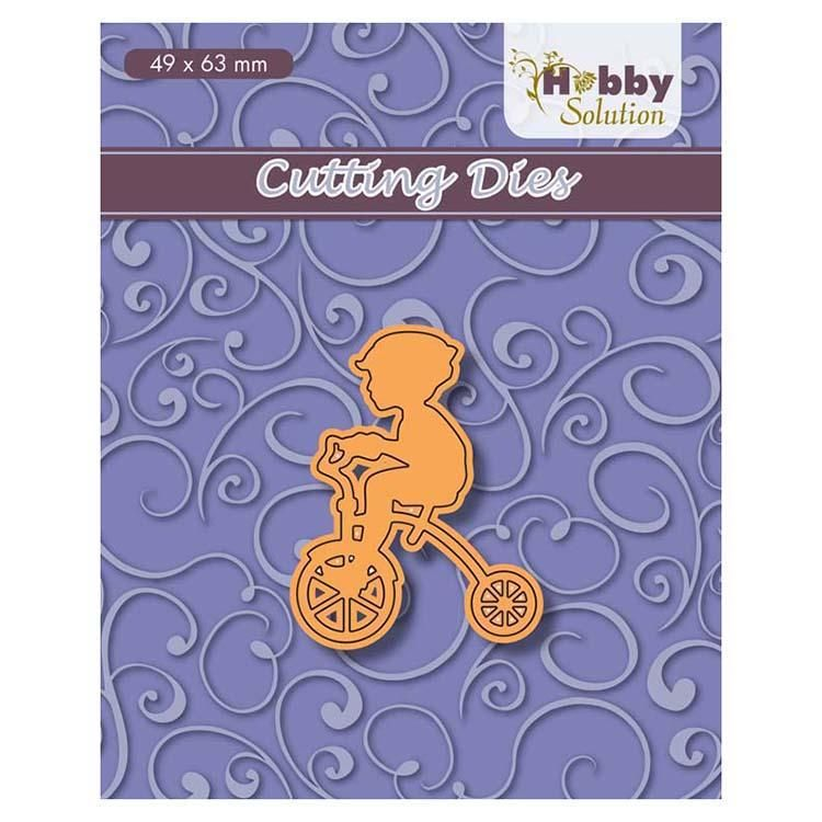 Hobby Solution Cutting Dies Little Boy On Tricycle