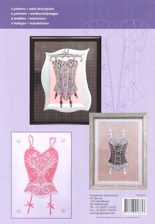 Pergamano Pattern Booklet M112 Sophisticated Lingerie