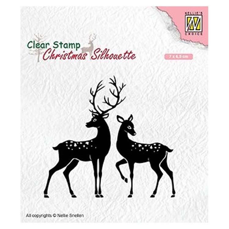 Nellie's Choice Clear Stamp Christmas Silhouette Deer