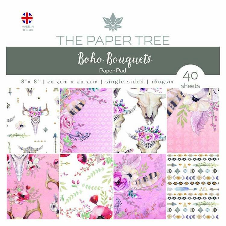 """The Paper Tree Boho Bouquets 8"""" X 8"""" Paper Pad"""