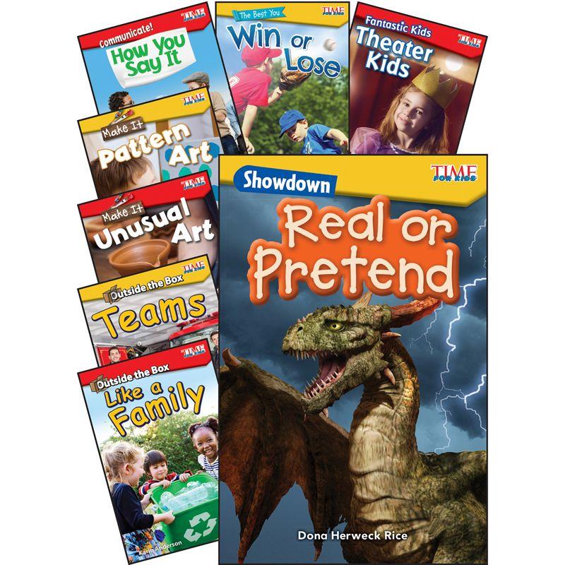 Social Studies/language Arts Gr K-1 8 Book Set Time For Kids