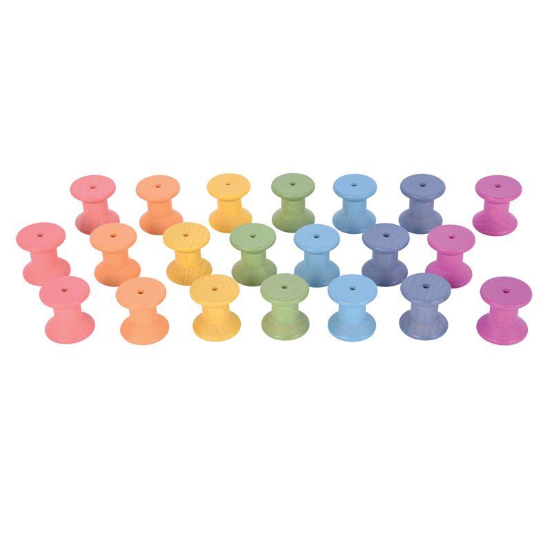 Rainbow Wooden Spools