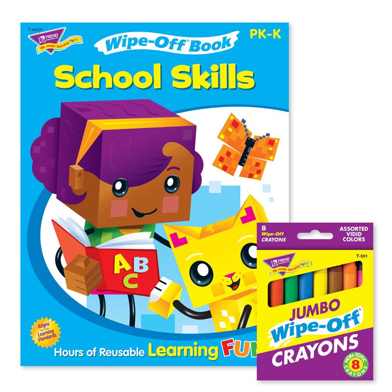 School Skills Reusable Book & Crayons