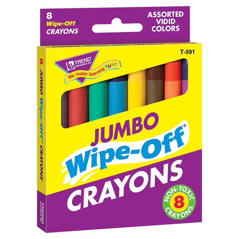 Wipe-Off Crayons Jumbo 8/Pk