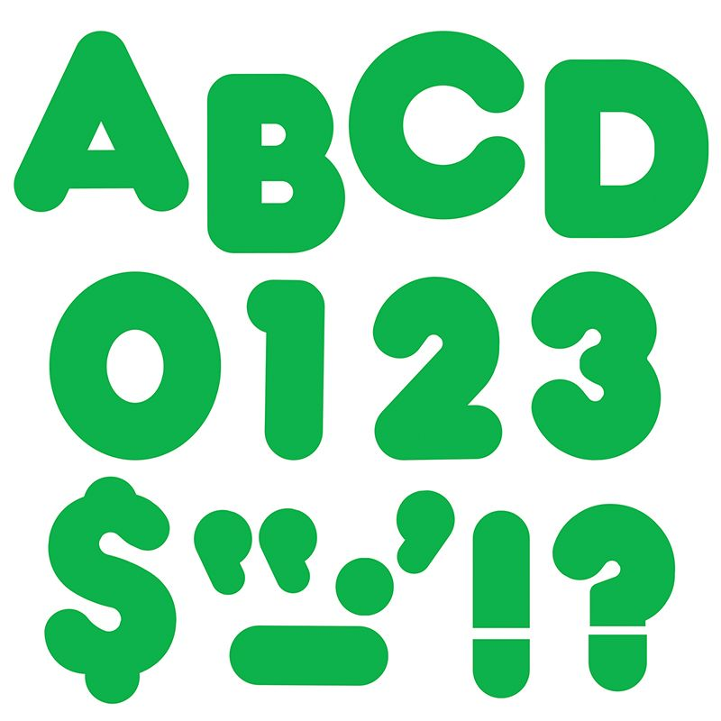 Ready Letters 4In Casual Green Spark