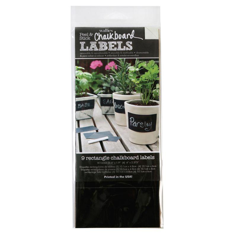 Rectangle Labels Wallies Chalkboard