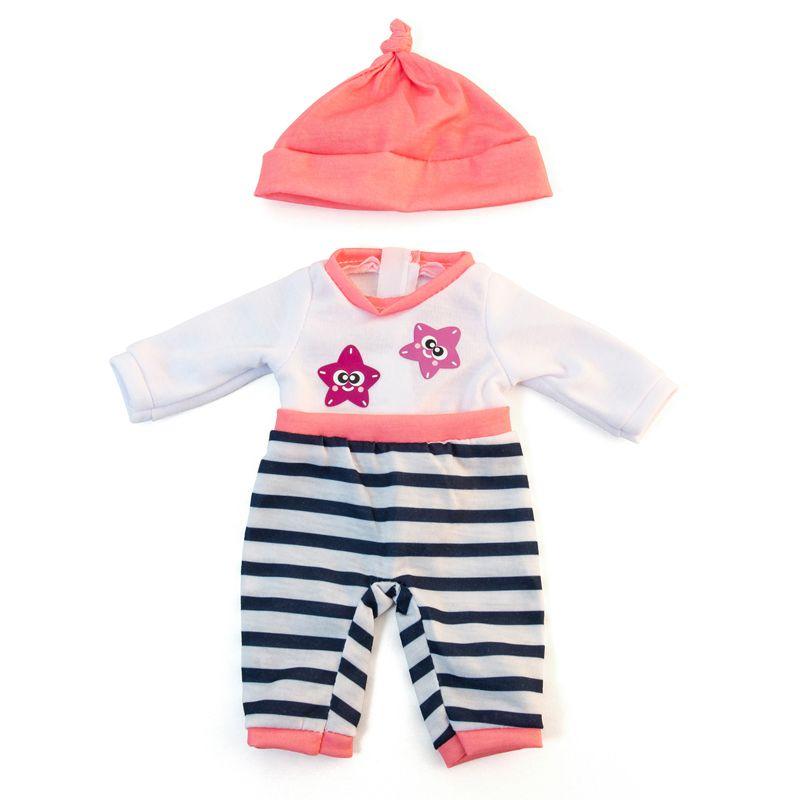 Doll Clothes Salmon Pajamas