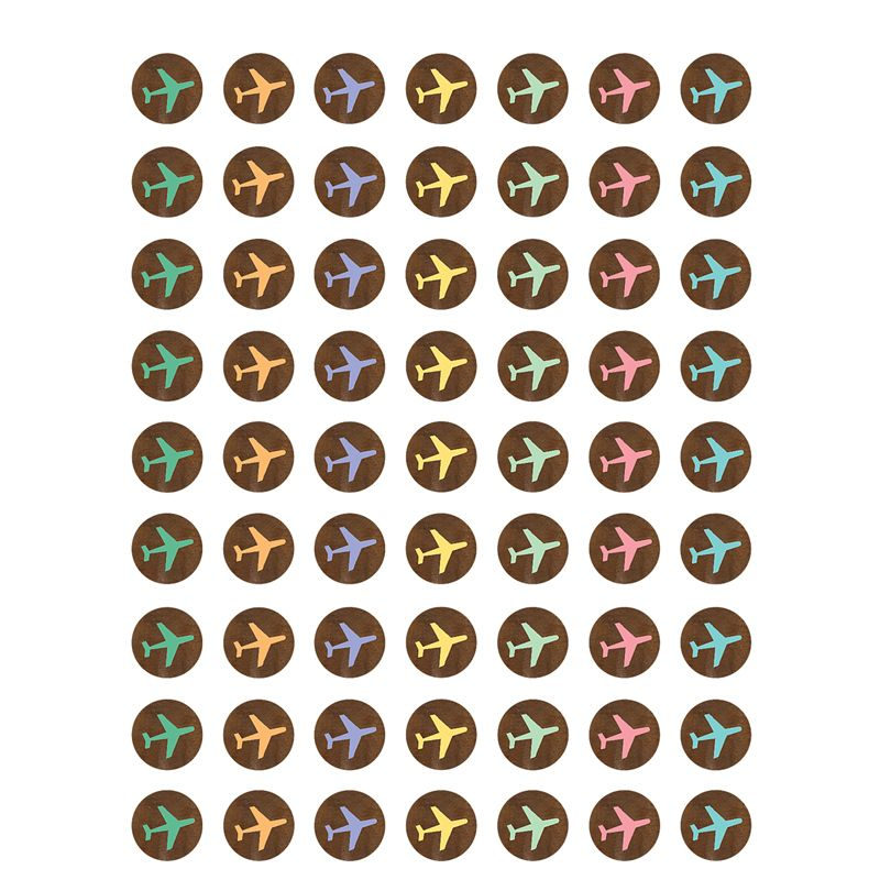 Travel Map Airplanes Mini Stickers