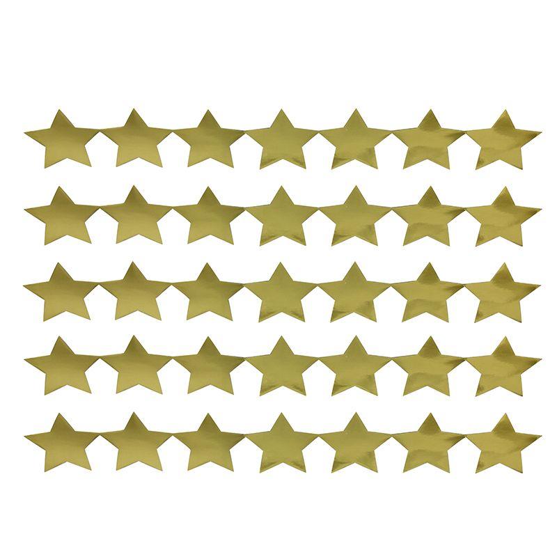 Sticker Strips 5 Strips Gold Stars