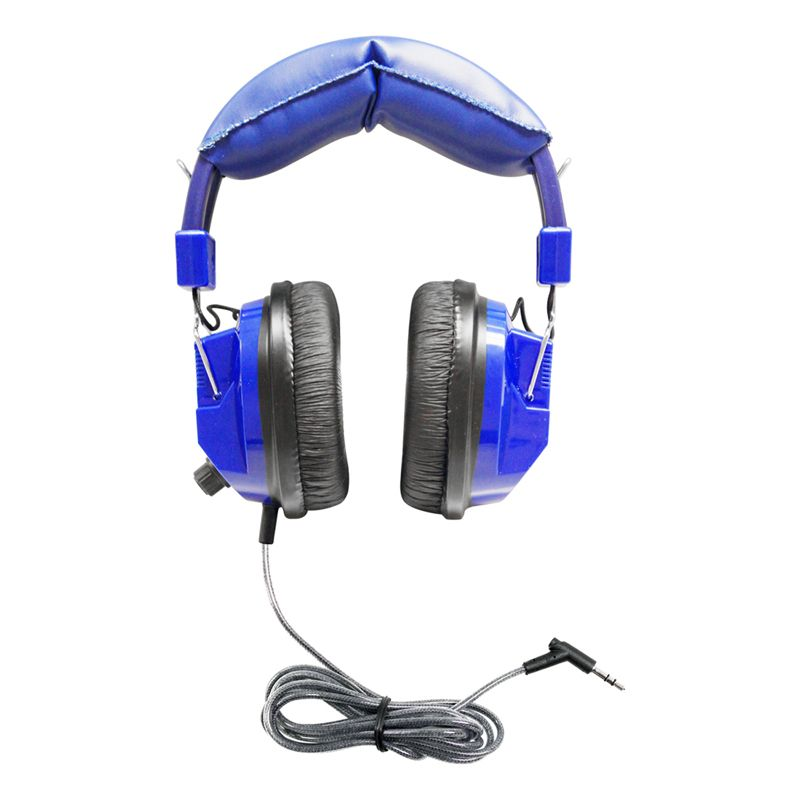 Blue Deluxe Headphone W/ 3.5mm Plug And Volume