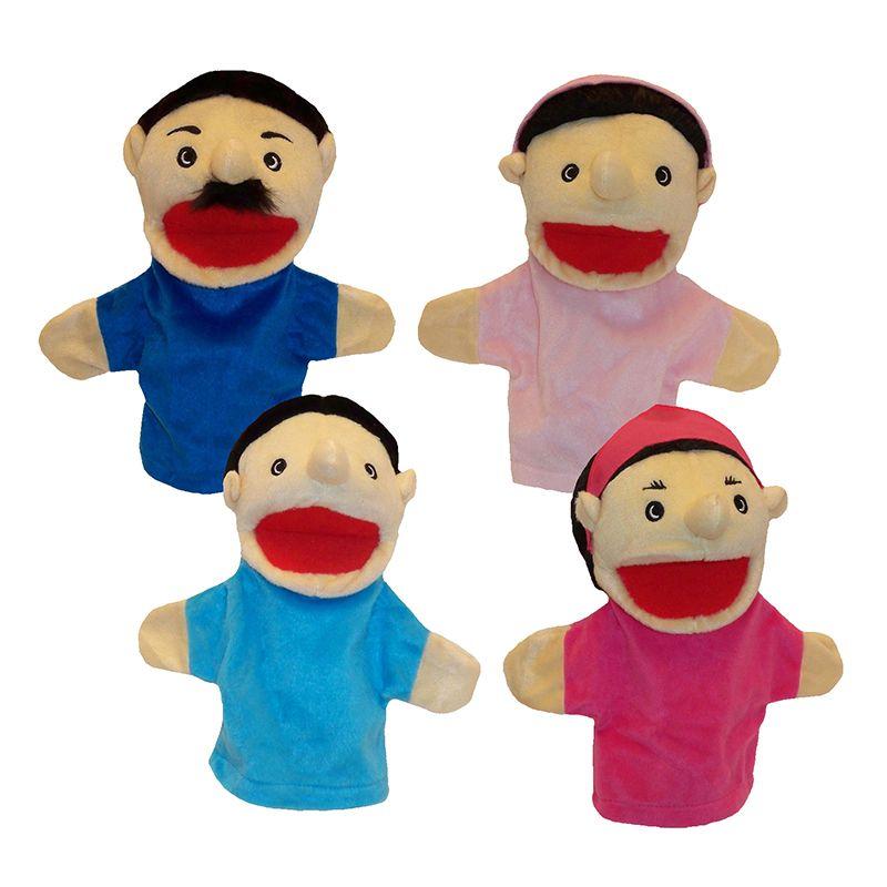 Family Bigmouth Puppets Hispanic Family Of 4