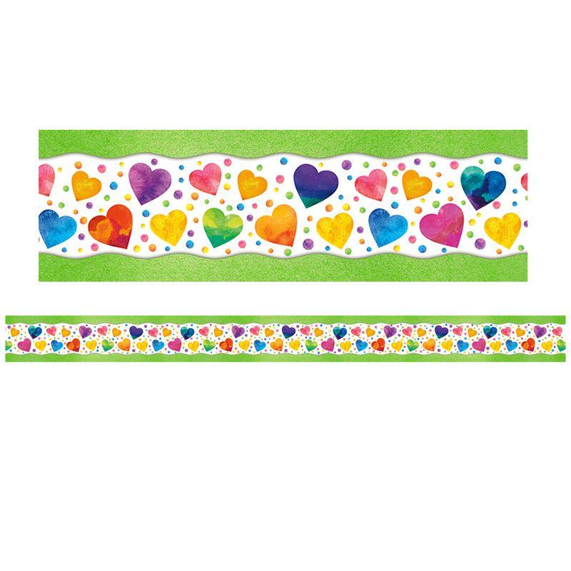 Watercolor Hearts Trimmer All Around Board
