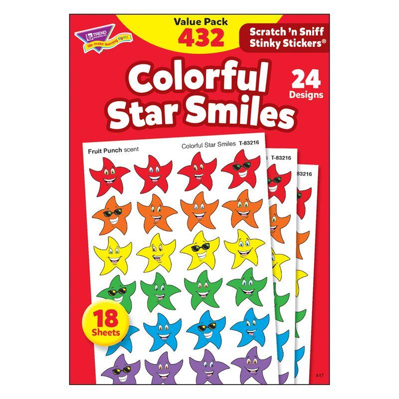 Stinky Stickers Smiley Stars 432/Pk Variety Acid-Free Pk