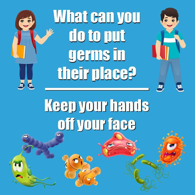 Keep Germs In Their Place Floor Stickers 5pk