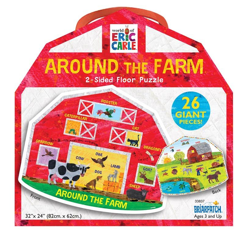 Around The Farm 2-side Floor Puzzle The World Of Eric Carle